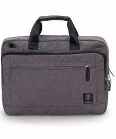 "Bag Office INVICTA - GREY - PC Port up to 15.6"" - adjustable shoulder Strap - Man-Woman"