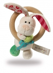 PLUSH My First NICI - ring wood plush BUNNY and tink