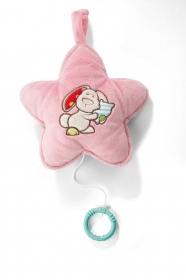 PLUSH - My First NICI - Chime in the shape of a star with bunny