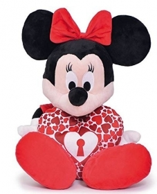 PLUSH WALT DISNEY MINNIE with HEART - 25 cm