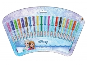 SET DA 20 PENNE GEL - DISNEY FROZEN Elsa e Anna
