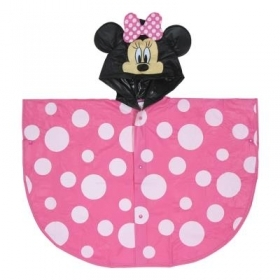WATERPROOF PONCHO RAIN PONCHO DISNEY MINNIE MOUSE - 5/6 YEARS