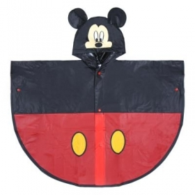 WATERPROOF PONCHO RAIN PONCHO DISNEY MICKEY MICKEY - 3/4 YEARS