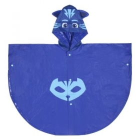 WATERPROOF PONCHO RAIN PONCHO PJMASKS Super Pyjamas, the CAT BOY 3/4 YEARS