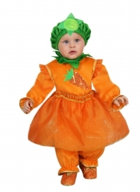DRESS COSTUME CARNIVAL Mask NEWBORN - small carrot