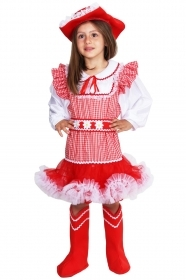 DRESS COSTUME Mask CARNIVAL baby - COUNTRY GIRL