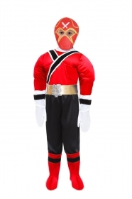 DRESS COSTUME CARNIVAL Mask - POWER NINJA RED