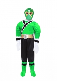DRESS COSTUME CARNIVAL Mask - POWER NINJA GREEN