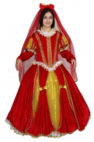DRESS COSTUME CARNIVAL Mask Girl - Queen isabella of spain