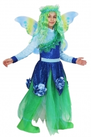 DRESS COSTUME CARNIVAL Mask Girl - water-LILY-FLOWERS