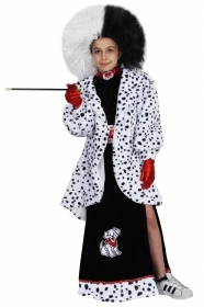 DRESS COSTUME CARNIVAL Mask Girl - DALMATIAN LUXURY