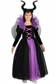 DRESS COSTUME CARNIVAL Mask Girl - wicked WITCH