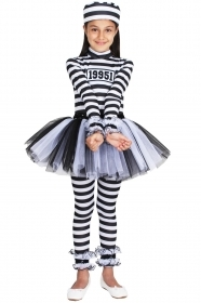 DRESS COSTUME CARNIVAL Mask Girl - CARCERATA