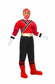 DRESS COSTUME Mask CARNIVAL kid - POWER RED SAMURAI