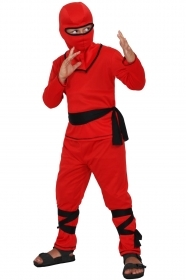 DRESS COSTUME CARNIVAL Mask CHILD Warrior ninjas red