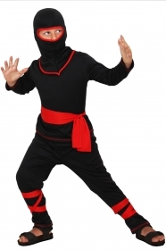 DRESS COSTUME CARNIVAL Mask CHILD - ninja Warrior black