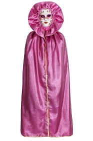 DRESS COSTUME CARNIVAL Mask Adult DOMINO FUCHSIA to