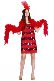 DRESS COSTUME CARNIVAL Mask Adult - CHARLESTON-RED