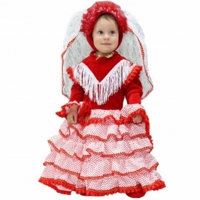 DRESS COSTUME CARNIVAL Mask NEWBORN - SPANISH