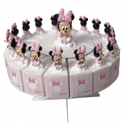 FAVOR CAKE with 18 Boxes Portaconfetti more Figurines DISNEY MINNIE