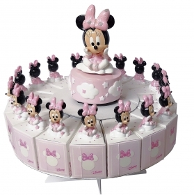 FAVOR CAKE with 18 Boxes Portaconfetti more Figurines and Chimes DISNEY MINNIE