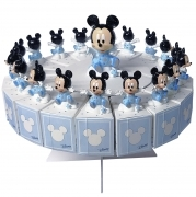FAVOR CAKE with 18 Boxes Portaconfetti more Figurines DISNEY MICKEY mouse