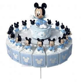 FAVOR CAKE with 18 Boxes Portaconfetti more Figurines and Chimes DISNEY MICKEY mouse