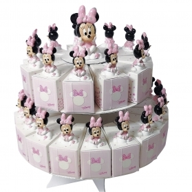 FAVOR CAKE with 29 Boxes Portaconfetti more Figurines DISNEY MINNIE