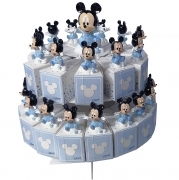 FAVOR CAKE with 29 Boxes Portaconfetti more Figurines DISNEY MICKEY mouse
