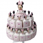 FAVOR CAKE with 29 Boxes Portaconfetti more Figurines and Chimes DISNEY MINNIE