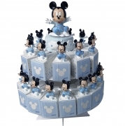 FAVOR CAKE with 29 Boxes Portaconfetti more Figurines and Chimes DISNEY MICKEY mouse