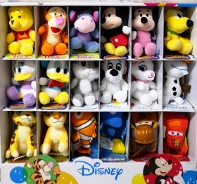 PLUSH WALT DISNEY collection - 18 plush assorted - 10 cm