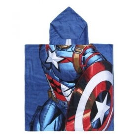 PONCHO BATHROBE-TOWEL - MARVEL AVENGERS CAPTAIN AMERICA