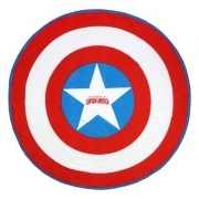 Beach TOWEL / swimming Pool Round 130 cm - MARVEL AVENGERS CAPTAIN AMERICA