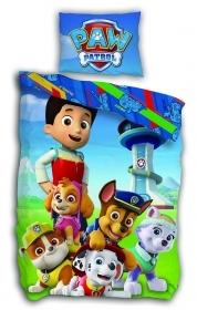 Duvet cover Bed PAW PATROL 140 x 200 cm and pillowcase 65 x 65 cm