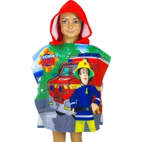 PONCHO BATHROBE-TOWEL FIREMAN SAM THE FIREMAN