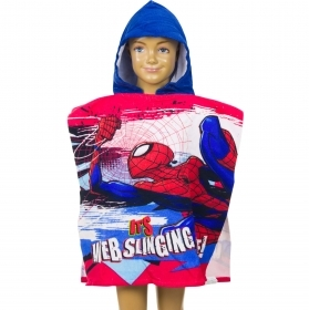 PONCHO BATHROBE BEACH TOWEL MARVEL SPIDERMAN