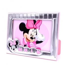 PHOTO FRAME, CUSTOMIZABLE in SILVER - DISNEY MINNIE