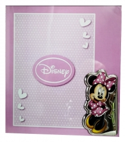 PHOTO FRAME in Plexiglas and SILVER - DISNEY MINNIE mouse to