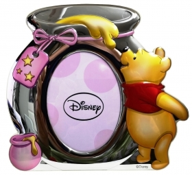 PHOTO FRAME in SILVER - DISNEY WINNIE THE POOH pink
