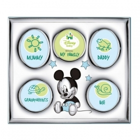 PHOTO FRAME in SILVER for 5 photos - DISNEY MICKEY MICKEY mouse
