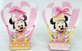 CANDY box, DISNEY pencil CASE door Confetti MINNIE hot air Balloon