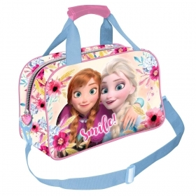 BAG DUFFEL bag with shoulder Strap Gym DISNEY FROZEN ELSA and ANNA
