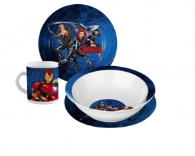 SET JELLY in the POTTERY - Dishes and Cup, MARVEL - AVENGERS