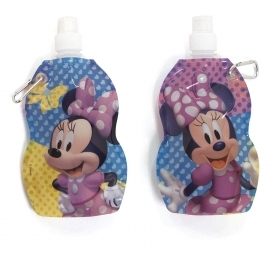 FOLDABLE water BOTTLE Plastic BPA FREE DISNEY MINNIE