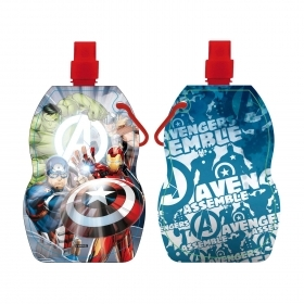 FOLDABLE water BOTTLE Plastic BPA FREE - MARVEL AVENGERS