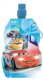FOLDABLE water BOTTLE Plastic BPA FREE DISNEY - CARS