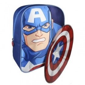 RUCKSACK Backpack School Nursery 3D - MARVEL Avengers CAPTAIN AMERICA