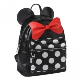 BACKPACK Backpack CASUAL FAUX leather School and Free Time - DISNEY MINNIE