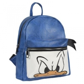 BACKPACK Backpack CASUAL FAUX leather School and Free Time - DISNEY DONALD DONALD duck